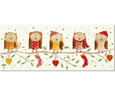 Kartka świąteczna Woodland Owls