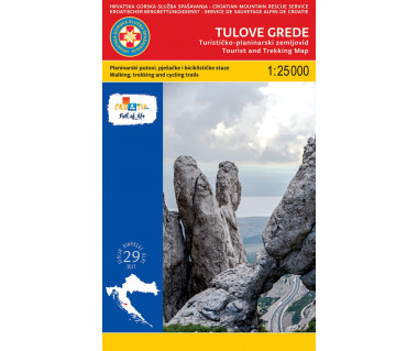 Tulove Grede tourist and trekking map