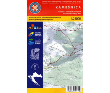 Kamesnica tourist and trekking map