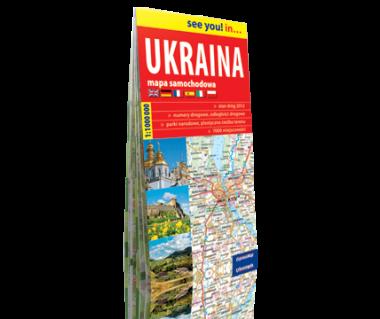 Ukraina mapa samochodowa