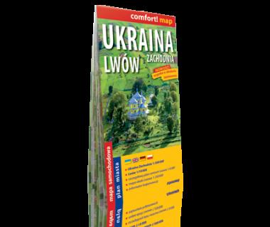 Ukraina Zachodnia, Lwów mapa laminowana
