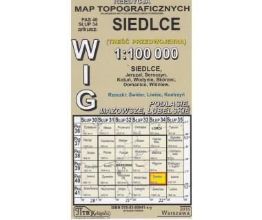 WIG 40/34 Siedlce (plansza) reedycja z 1937 r.