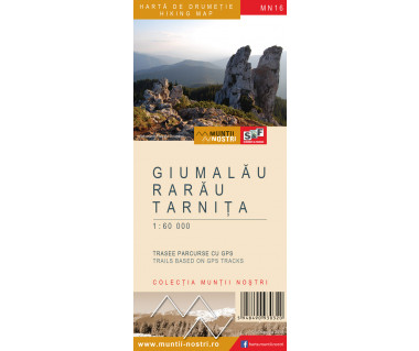 Giumalau Rarau Tarnita harta de drumetie/hiking map