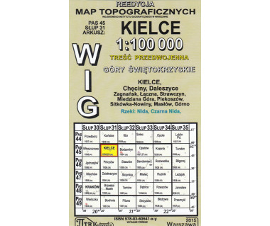 WIG 45/31 Kielce (plansza) reedycja z 1939 r.