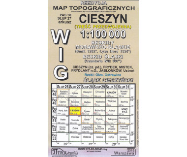 WIG 50/27 Cieszyn (plansza) reedycja z 1934 r.