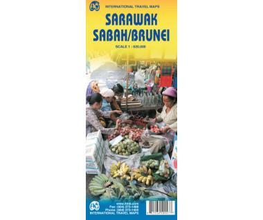 Sarawak, Sabah/Brunei - Mapa