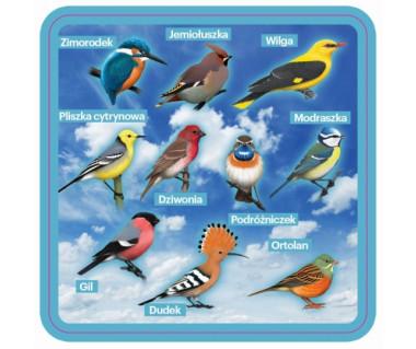 Podkładka pod kubek z ptakami