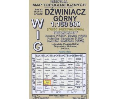 WIG 52/35 Dźwiniacz Górny (plansza) reedycja z 1937 r.