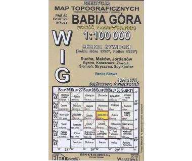 WIG 50/29 Babia Góra (plansza) reedycja z 1934 r.