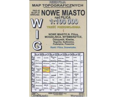 WIG 42/31 Nowe Miasto nad Pilicą (plansza) reedycja z 1937 r.