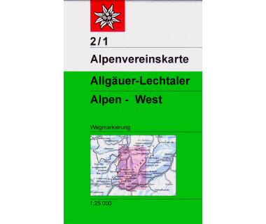 Allgäuer & Lechtaler Alps West - Mapa turystyczna