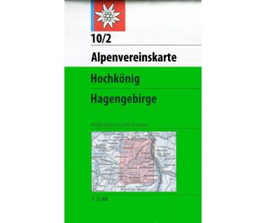 Hochkönig, Hagengebirge - Mapa turystyczna