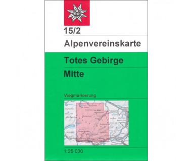Totes Gebirge Mitte - Mapa turystyczna