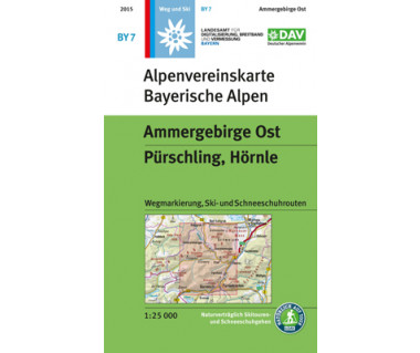 Ammergebirge Ost - Mapa turystyczna
