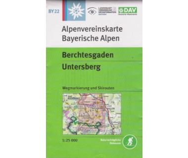 Berchtesgaden, Untersberg - Mapa turystyczna