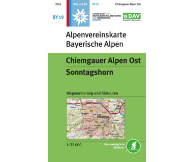 Chiemgauer Alpen Ost - Mapa turystyczna