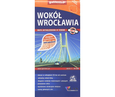 Wokół Wrocławia mapa wodoodporna