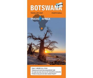 Botswana tourist map