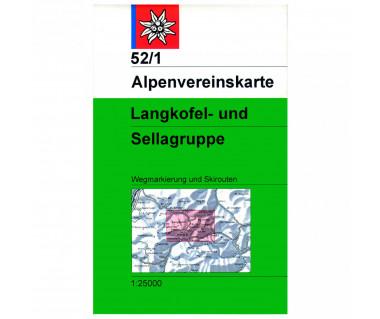 Langkofel und Sellagruppe - Mapa turystyczna