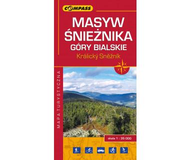 Masyw Śnieżnika, Góry Bialskie, Kralicky Sneznik mapa foliowana