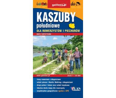 Kaszuby Południowe dla rowerzystów i piechurów - Mapa