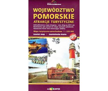 Województwo Pomorskie mapa atrakcji turystycznych