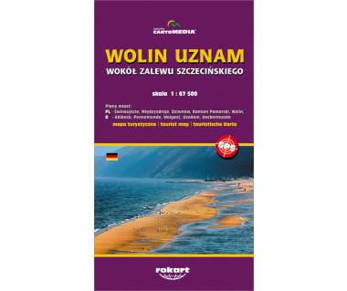 Wolin, Uznam. Wokół Zalewu Szczecińskiego - Mapa