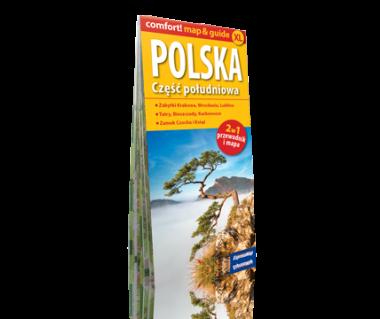 Polska część południowa 2 w 1 (mapa+przewodnik) laminowana