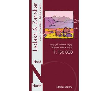 Ladakh Zanskar north (Brog-yul, Noubra, Shyog) - Mapa wodoodporna