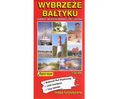 Wybrzeże Bałtyku: Karwia-Władysławowo-Hel-Gdynia - Mapa