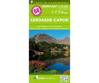 Pyrenees (8) Cerdagne-Capcir - Mapa