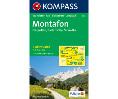 Montafon - Mapa turystyczna