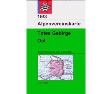 Totes Gebirge Ost - Mapa turystyczna