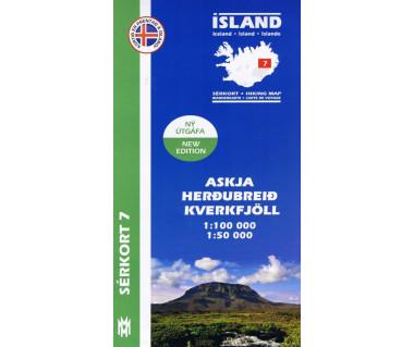 Island 07 Askja - Herdubreid - Kverkfjoll - Mapa