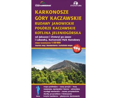 Karkonosze, Góry Kaczawskie, Rudawy Janowickie, Pogórze Kaczawskie, Kotlina Jeleniogórska