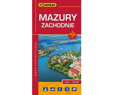 Mazury Zachodnie - Mapa