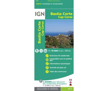 IGN 75030 Bastia Corte, Cap Corse