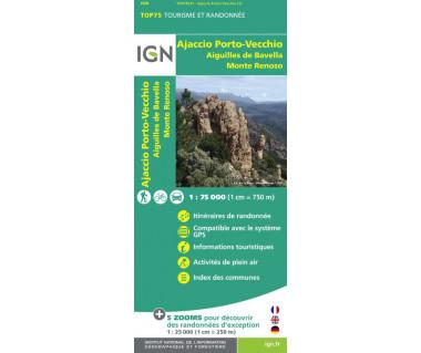 IGN 75031 Ajaccio Porto-Vecchio / Auguilles de Bavella / Monte Renoso