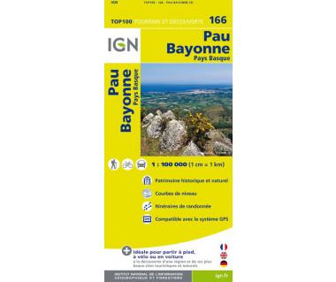 Pau, Bayonne - Mapa