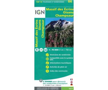 IGN 75006 Massif des Ecrins, Oisans, Champsaur