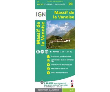 Massif de la Vanoise - Mapa turystyczna
