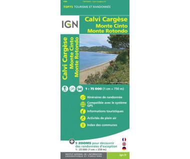 IGN 75029 Calvi Cargese, Monte Cinto, Monte Rotondo