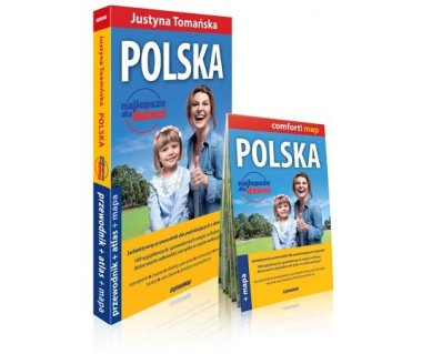 Polska. Najlepsze dla dzieci (przewodnik+atlas+mapa)