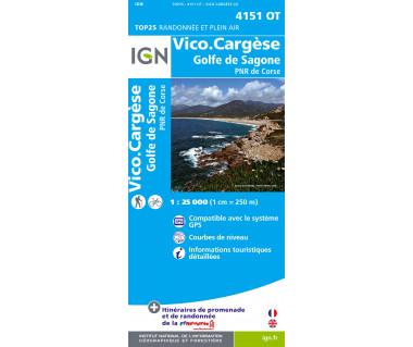 IGN 4151 OT Vico.Cargese /  Golfe de Sagone / PNR de Corse