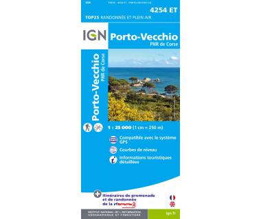 IGN 4254ET Porto-Vecchio PNR de Corse