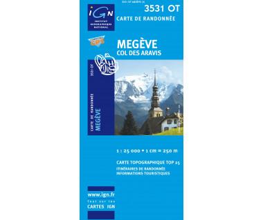 IGN 3531OT Megeve, Col des Aravis