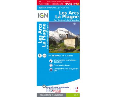 IGN 3532 ETR Les Arcs La PLagne Parc National de la Vanoise