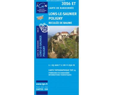 IGN 3226 ET Lons-le-Saunier /  Poligny / Reculee de Baume