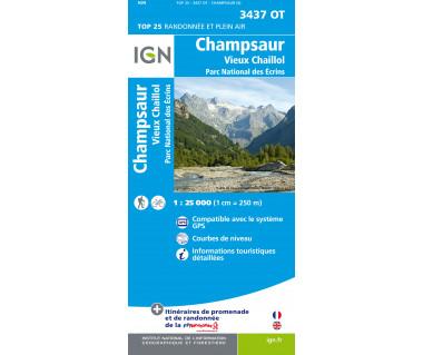 IGN 3437OT Champsaur, Vieux Chaillol, PN des Ecrins