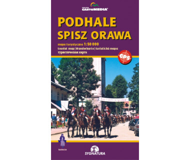 Podhale, Spisz, Orawa - Mapa turystyczna